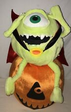 Disney Monsters Inc Mike Wazowski Vampire Pumpkin Plush Stuffed Animal Halloween