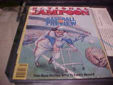 PETE ROSE MONTREAL EXPOS  SIGNED 1984 NATIONAL LAMPOON COVER FAIR CONDITION