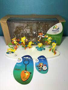 Miniature Collection RIO 2016 Olympic Mascot VINICIUS + Keychain + Pin RIO 2016