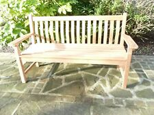CHUNKY 1.5 METRE WAVE BACK BENCH TOP QUALITY GRADE A HUMBER TEAK FREE DELIVERY
