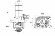 Thermostat Kühlmittel - Behr TI 16 105