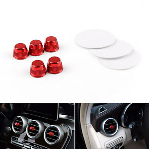 5x Red Cover Air Vent Outlet Caps Trim Cover For Mercedes Benz W205 C Class C