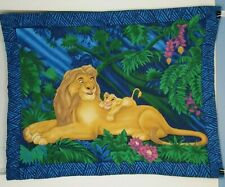 Disney Lion King Fabric Panel Mufasa Simba Vintage 90s Wall Tapestry Decor Cloth