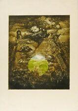 """Barbara Rosiak Colored Etching """"Eksplorja"""" 18/20 1979"""
