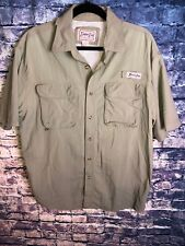 Bimini Bay Button Down Short Sleeve Shirt Men's Size Large Green🔥best Price🔥