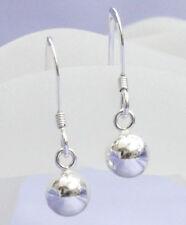 925 sterling silver plain ball hook drop dangle earrings free gift box