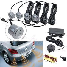 4 Parking Sensors Buzzer Car Reverse Backup Rear Radar System Sound Alarm Gray