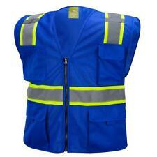 7 Pocket Blue Two Tones Safety Vest