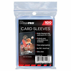 Ultra Pro Card Sleeves 1 Pack of 100 Sleeves For Standard Size Trading Cards