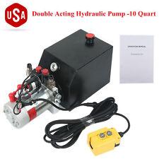 Hydraulic Double Acting Pump 12V DC - 10 Quart Dump Trailer Power Unit 3200 PSI