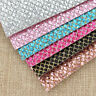 A4 PU Fabric Grid Glitter Synthetic Leather DIY Apparel Sewing Accessories Craft