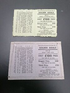 Football Ticket Stub Tottenham Games Golden Goals Tickets x2 League Fixtures