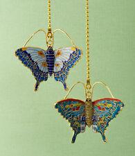 Cloisonne butterfly fan pull