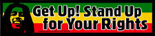 Get Up! Stand Up For Your Rights - Bob Marley Small Reggae Bumper Sticker Decal
