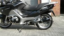 BMW R1200RT (2010-2013) black oval twin outlet Road Legal Motorbike Exhaust Can