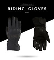 CE Motorcycle Textile/ Leather Racing Motorbike Black Knit Gloves Summer Winter