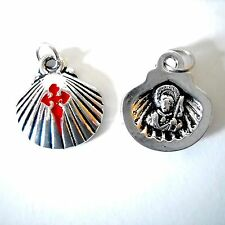 Camino de Santiago St James Pilgrim Scallop Shell Necklace Pendant