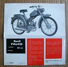 1960's Advertising FALCO TURISMO 49cc Bianchi Moped Leaflet Foglio