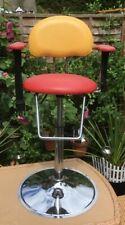 Red & Yellow Adjustable Child Chair + Safety Strap - Hairdresser Breakfast Bar