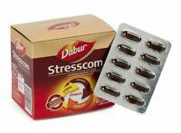 12 x 10 Dabur Stresscom Ashwagandha 120 HERBAL Caps Withania Somnifera Extract