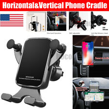 Horizontal Gravity Car Holder Mount Air Vent Stand Cradle F Mobile Phone iPhone