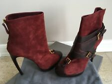 """Alexander McQueen Buckle Suede Ankle Boots 5.5"""" Brand NEW Size: 11/41"""