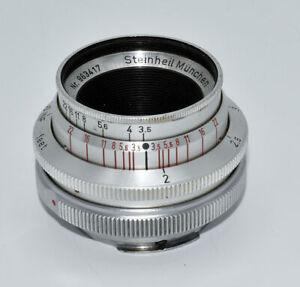 Steinheil Munchen Cassaron 40mmf3.5~Exakta Mount~Excellent except insect in lens