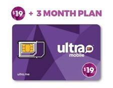 Ultra Mobile $19 Plan for 3 Months with Triple Punch Sim Card