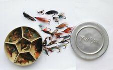 VINTAGE TIN OF FLY FISHING HOOKS