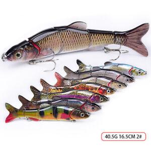 1 Pc Lifelike Eyes 5 Segment Bionic Bait Treble Hooks Crucian Carp Fishing Lure