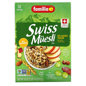 Familia Swiss Muesli No Sugar Added 32 oz 908 g All-Natural, Kosher