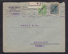 AUSTRIA 1919 CENSORED DEUTSCHOSTERREICH OVERPRINT COVER VIENNA TO MITLODI