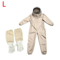 Unisex Beekeeping Suit Bee Guard Protection Clothing Hooded + Gloves L