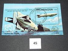 Zeppelin,auf,Briefmarken,Kleinbogen, NICARAGUA (45)