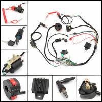 50cc - 125cc ATV Quad Dirt Bike Wiring Harness Loom Solenoid Coil Rectifier CDI