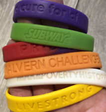 Bundle of x6 Collectable rubber wrist bands