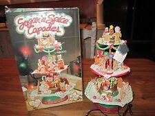 NEW Christmas SUGAR AND SPICE CAPADES Christmas Mice Action Music Box NIB