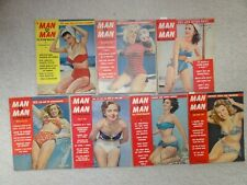 Group of 1950's MAN TO MAN magazines - 19 issues, pin-ups, GGA one MM cover