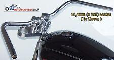 LSL Lenker Old Style L12 25,4mm 1 Zoll Chrom  passend f. Kawasaki Yamaha Honda