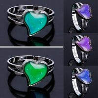 Heart Shaped Magic Mood Ring Emotion Feeling Rings Temperature Control Jewelry