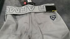 Under Armour Mens Utility Baseball Pants Md/ Gray with Navy Stripe
