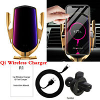 10W Car Qi Wireless Charger Phone Holder GPS APP Location Positioning Finder