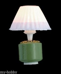 Green Base Lamp Dollhouse Furniture - 12 Volt - Town Square Miniatures #T8543