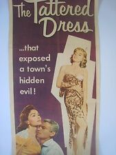 Vintage Theater Poster.....'' The Tattered Dress ! '' ....Jeanne Crain..1957