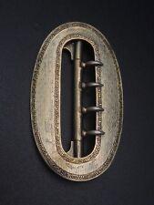 Ancienne boucle de ceinture en argent massif vermeil XIXeme