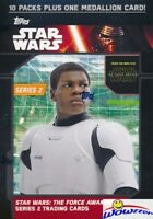 2016 Topps Star Wars the Force Awakens Series 2 EXCLUSIVE Blaster Box-MEDALLION
