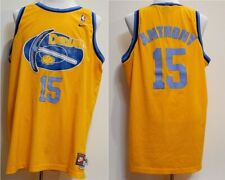 buy popular 5216b 87aed Nike Denver Nuggets Carmelo Anthony 15 Yellow Basketball Jersey XXL