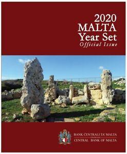 Coffret BU Malte 2020 (9 pièces dont 2€ commémorative Skorba)