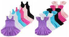 Niñas Niños Gimnasia Vestido Ballet Baile Fiesta Tutu Falda Traje leotardo Nuevo
