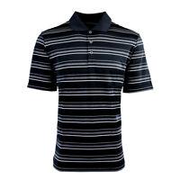 adidas Men's Puremotion Textured Stripe Polo Black/White M